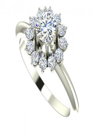 Halo 750 diamond round cut gia 1257059433 e vvs1 ring for women by daniel henderson