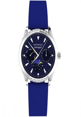 Movado heritage navy dial diamonds luxury swiss watch