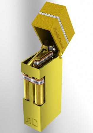 Ronaldo diamond lift arm super magic 18k gold limited edition 500p cigarette lighter