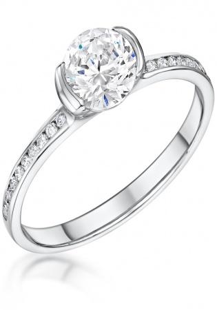 Daniel henderson 18kw gold maevona cava diamond solitaire