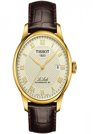 Tissot le locle powermatic 80 automatic champagne dial men's watch