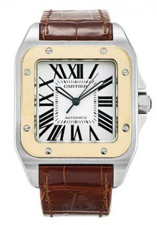 Cartier santos 100 w20072x7 automatic watch