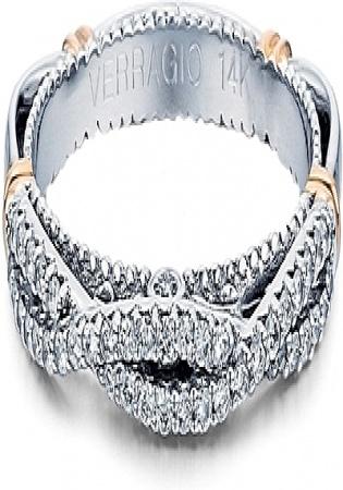 Verragio twist 14k white gold diamond wedding band
