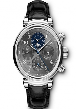 Iwc da vinci perpetual calendar chronograph stainless steel automatic watch