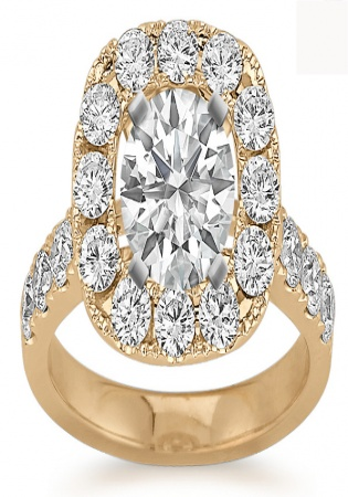 Shane co halo diamond engagement 14k yellow gold ring for women