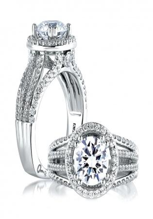 A. jaffe metropolitan 14k white gold diamond engagement ring setting