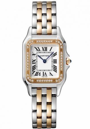 Cartier panthere natural diamond 18k gold ss quartz