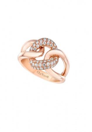 Le vian vanilla diamond and 14k strawberry gold ring