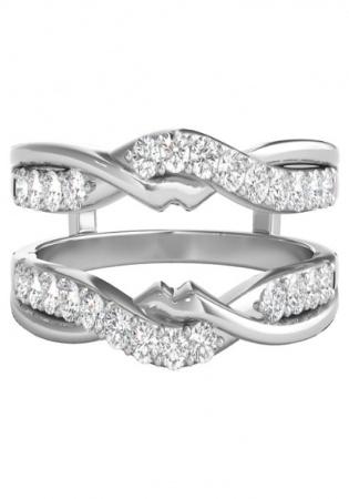 Helzberg 1/2 ct. tw. diamond ring enhancer in 14k white gold