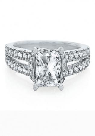 Helzberg artiste by scott kay 1/2 ct. tw. diamond semi-mount engagement ring in 14k white gold