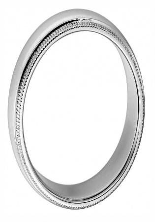 Tiffany & co. classic platinum milgrain wedding band ring