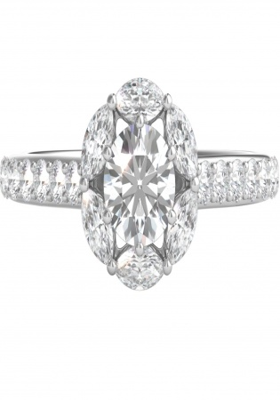 Helzberg radiant star 1 ct tw diamond engagement ring in 14k white gold