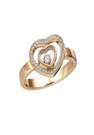 Chopard happy diamonds heart ring rose gold 827691 5019